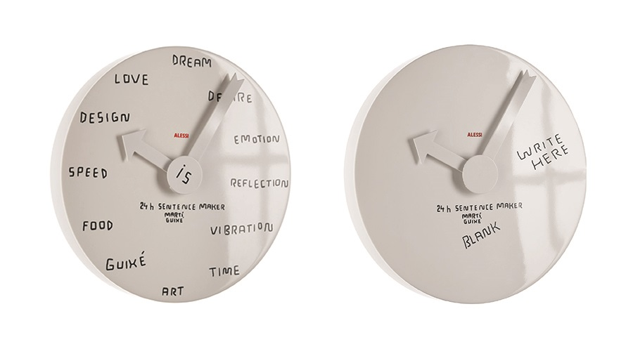 Blank Wall Clock (by Mar Guixé / Alessi)