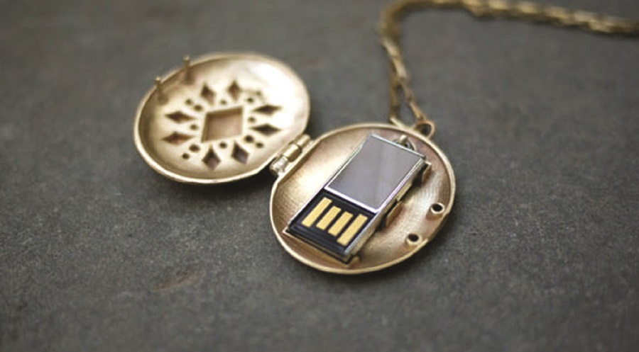 USB Locket (by Emily Rothschild)